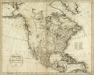 Early American Map.