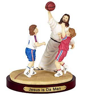 Jesus Teaching How To Dunk.