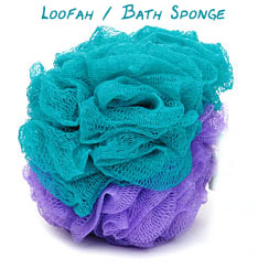 The venerable loofah / bath sponge.