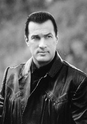 Steven Seagal, ponytail man.